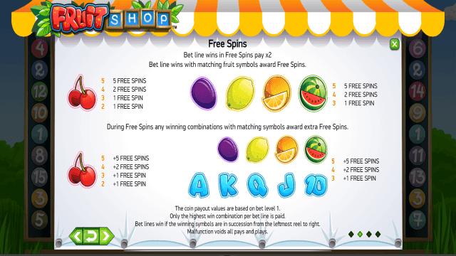 Игровой интерфейс Fruit Shop 4