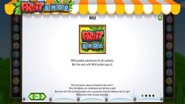 Игровой интерфейс Fruit Shop 3