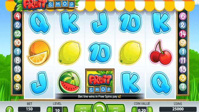 Игровой интерфейс Fruit Shop 1