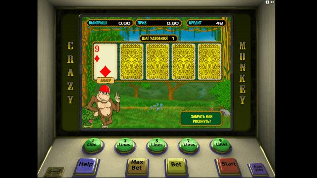 Игровой интерфейс Crazy Monkey 4