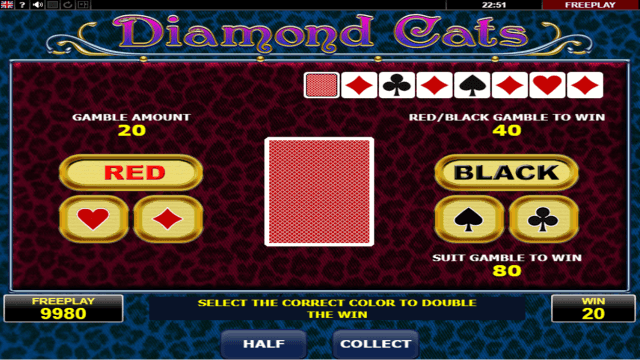 Характеристики слота Diamond Cats 4