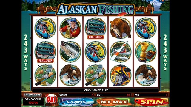 Бонусная игра Alaskan Fishing 8