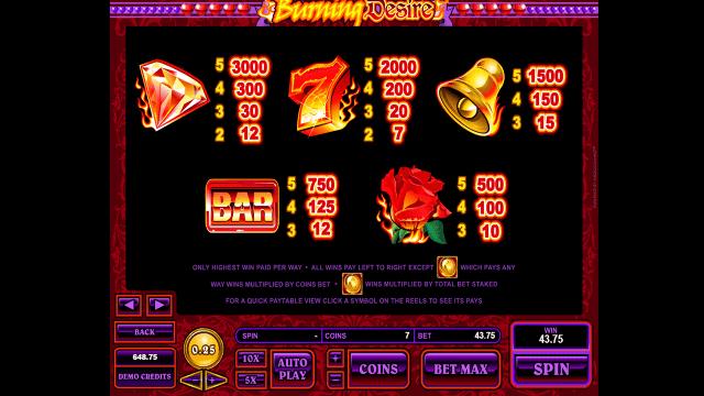 Игровой интерфейс Burning Desire 10