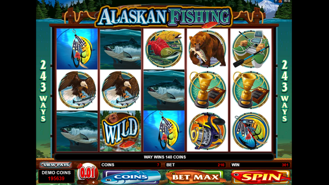 Игровой интерфейс Alaskan Fishing 6