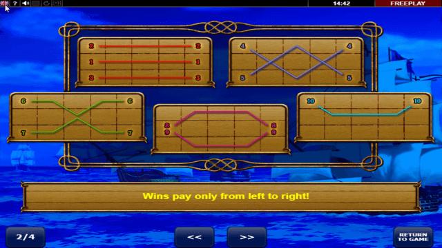 Игровой интерфейс Admiral Nelson 10