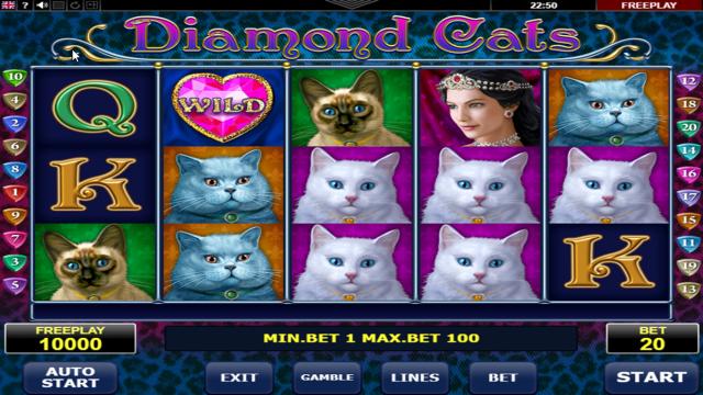 Характеристики слота Diamond Cats 5