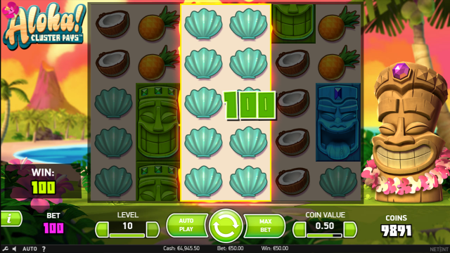 Игровой интерфейс Aloha Cluster Pays 7