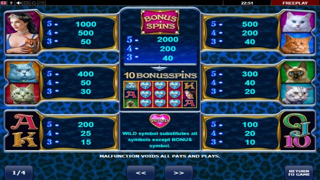Бонусная игра Diamond Cats 8
