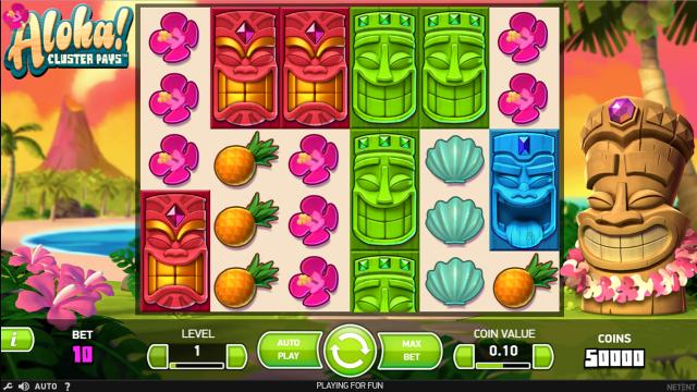 Игровой интерфейс Aloha Cluster Pays 8