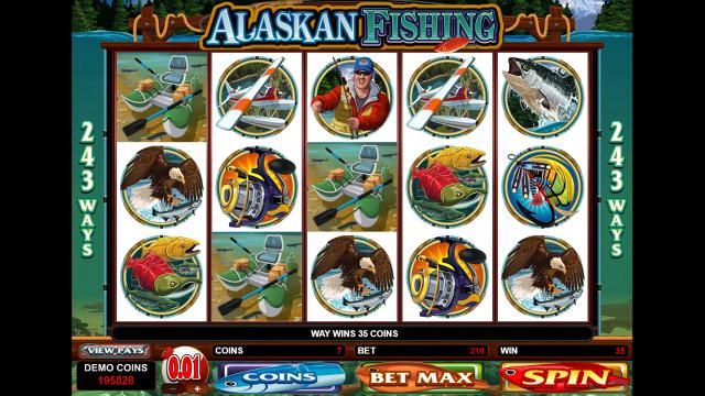 Бонусная игра Alaskan Fishing 4