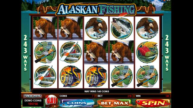Игровой интерфейс Alaskan Fishing 5