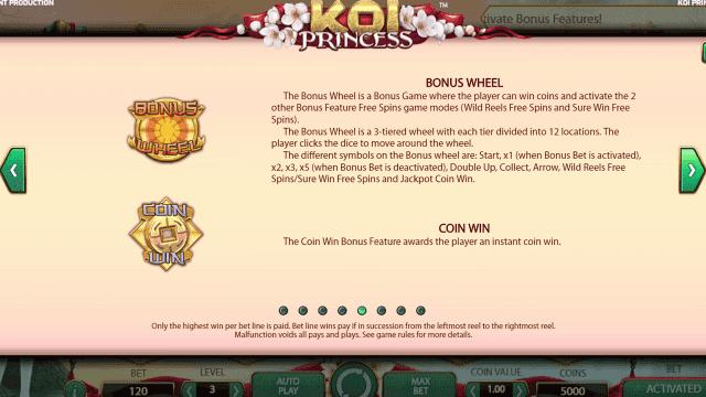 Игровой интерфейс Koi Princess 5