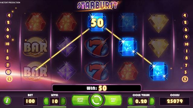 Бонусная игра Starburst 5
