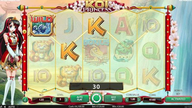 Игровой интерфейс Koi Princess 9