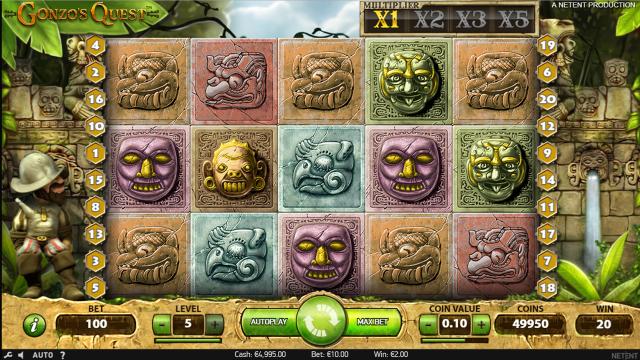 Бонусная игра Gonzo's Quest 6