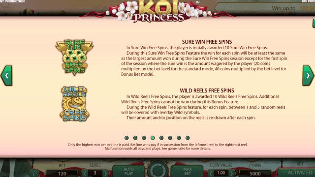 Игровой интерфейс Koi Princess 4