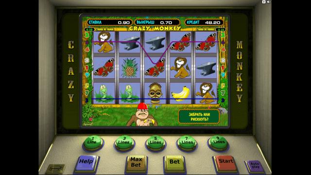 Игровой интерфейс Crazy Monkey 2