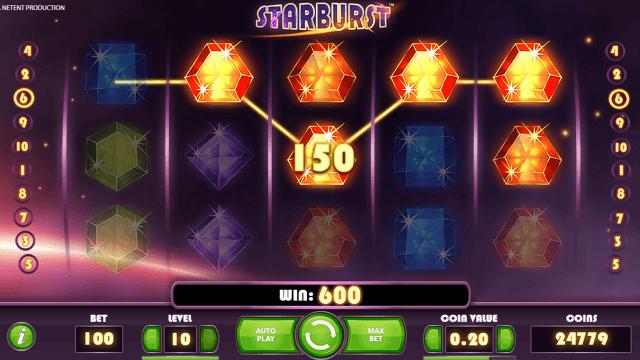 Игровой интерфейс Starburst 6