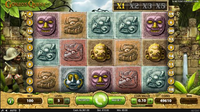 Игровой интерфейс Gonzo's Quest 9