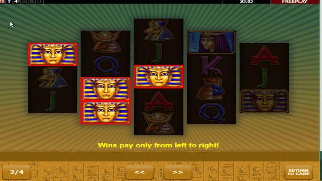 Игровой интерфейс Eye Of Ra 3