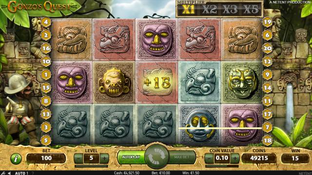 Игровой интерфейс Gonzo's Quest 8