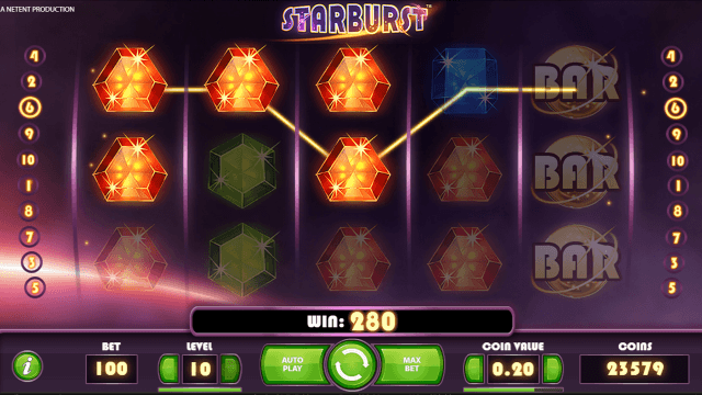 Бонусная игра Starburst 10