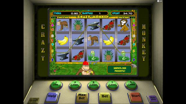Игровой интерфейс Crazy Monkey 10