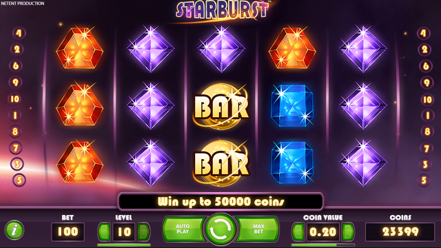 Бонусная игра Starburst 9