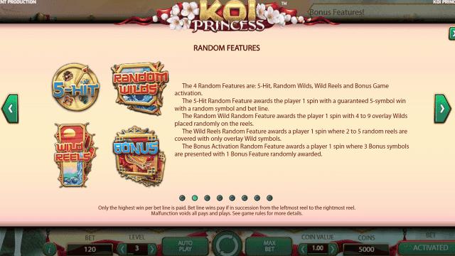 Игровой интерфейс Koi Princess 3